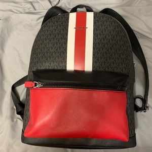 Michael Kors Red Backpack